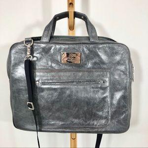 Rebecca Minkoff grey leather laptop bag/briefcase